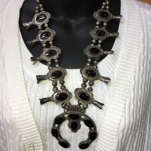 Jewelry - Navajo American Indian Squash Blossom Necklace